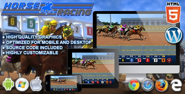 Horse Racing - HTML5 Casino Game