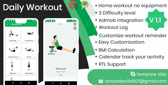 Daily Workouts - No Equipment Required