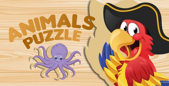 Animals Puzzle Kids Game - Unity Project