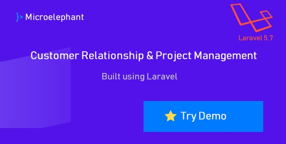 Microelephant - CRM & Project Management System built with Laravel - CodeCanyon Item for Sale