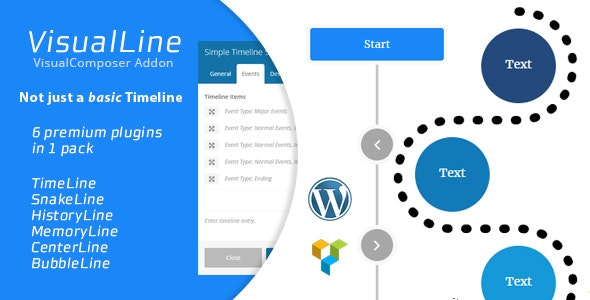 Visual Line WordPress Timeline Plugin - CodeCanyon Item for Sale