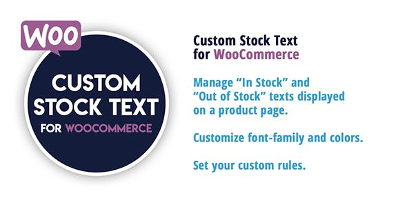 Custom Stock Text for WooCommerce