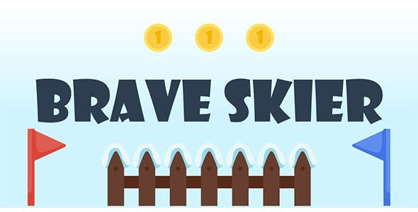 Brave Skier - Buildbox Template