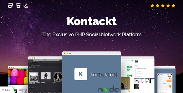 Kontackt - The Exclusive PHP Social Network Platform (v1.19)