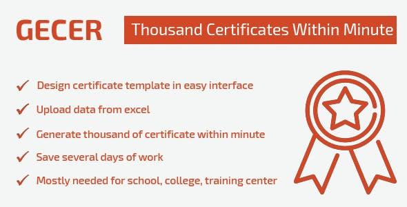 GECER - Bulk Certificate Generator