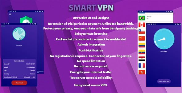 Smart VPN - Unlimited Free VPN - CodeCanyon Item for Sale