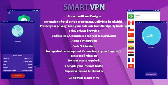 Smart VPN - Unlimited Free VPN by SmartManav | CodeCanyon