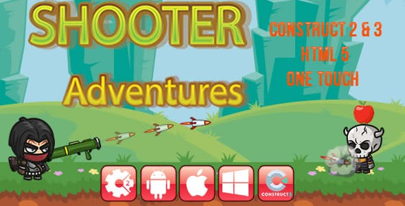 Shooter Adventures - HTML5 Game (CAPX)