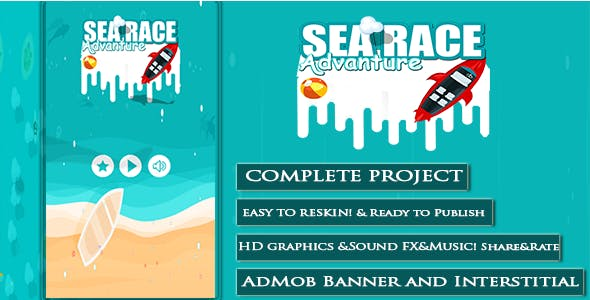 Sea Race Advanture + Xcode + AdMob