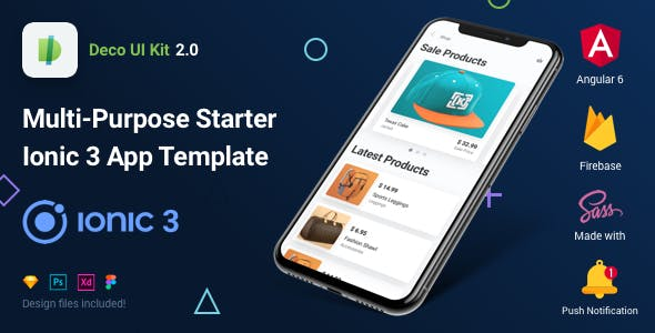 Deco UI Kit - Multi-purpose Starter Ionic 3 App Template - Angular 6, Sass, Firebase