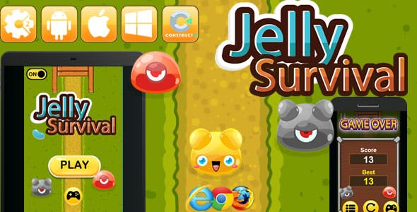 Jelly Survival - HTML5 Game (CAPX)