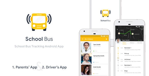 School Bus Tracking Android App Template (XML Code)