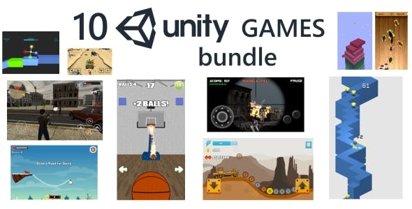 10 Unity Games Premium Bundle (with Admob ads)
