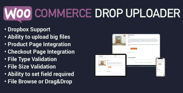 WooCommerce Drop Uploader - Drag&Drop File Uploader Addon