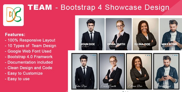 Team - Bootstrap 4 Showcase - CodeCanyon Item for Sale