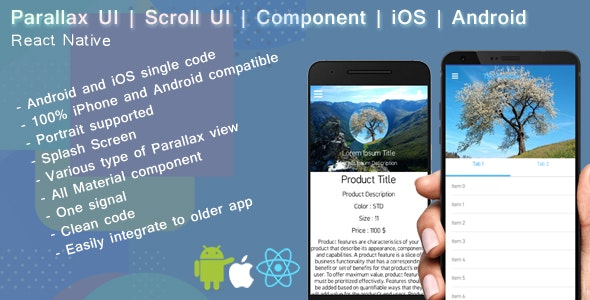 React native Parallax UI | Scroll view - CodeCanyon Item for Sale