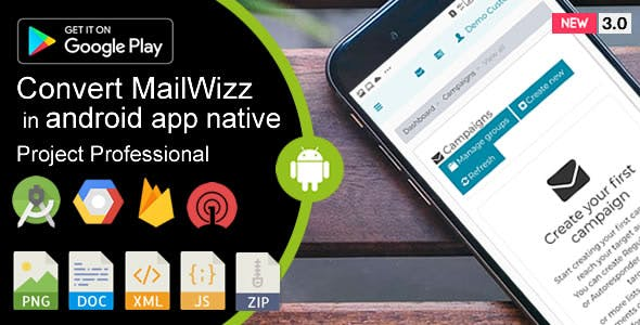 Weboox Convert - MailWizz Email Marketing to app Android