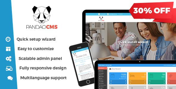 Pandao CMS Pro 4 - Fully Responsive Content Management System