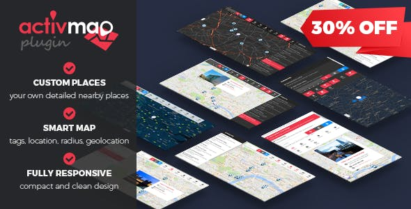 Activ'Map Nearby Places - Responsive POI Gmaps