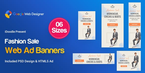 Fashion Sale Banners HTML5 D46 Ad by iDoodle