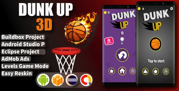 Dunk Up 3d ( Android Project + Eclipse + Admob + Bbdoc )