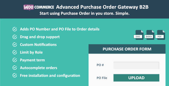 WooCommerce Purchase Order Gateway B2B