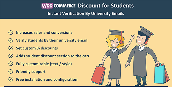 Woocommerce Discount for Students - Instant Verification By University Emails