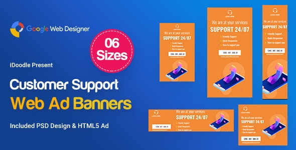 Customers Support Banners HTML5 Ad - CodeCanyon Item for Sale