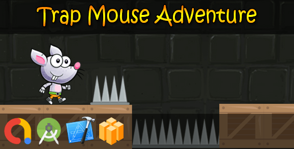 Trap Mouse Dangerous Adventure - Buildbox + iOS Xcode 10 + Android Studio + Admob + GDPR + API 27