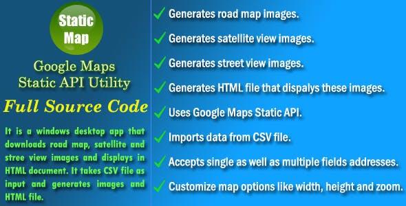 Google Maps Static API Utility - Source Code