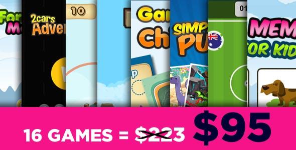 Mega Bundle 16 Games - HTML5 Games (CAPX)