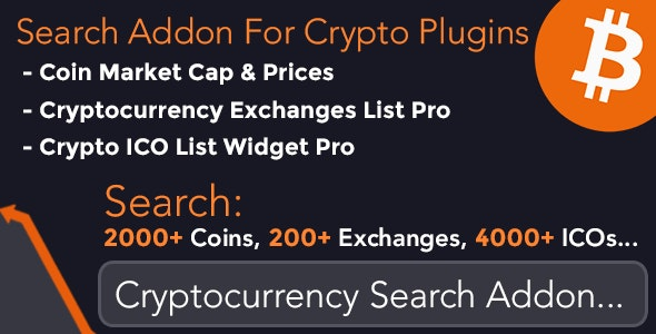 Cryptocurrency Search Addon For Crypto Plugins - CodeCanyon Item for Sale