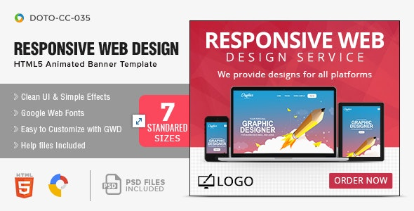 Web Design Agency Html5 Banners 7 Sizes By Hyov Codecanyon