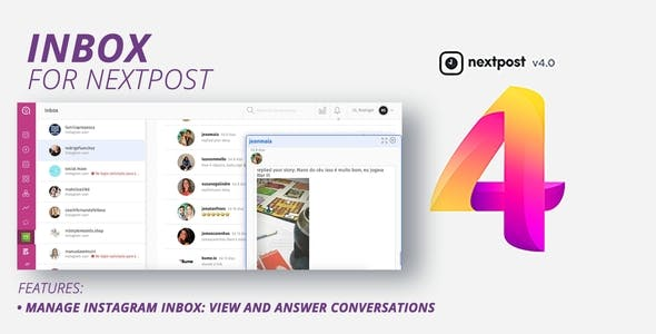 NextPost Plugin: Inbox - Instagram Direct Message