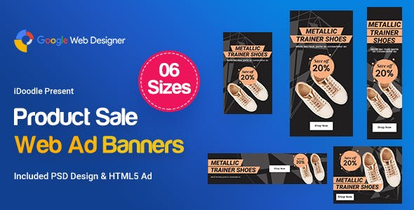 Product Sale Banners HTML5 Ad - GWD & PSD
