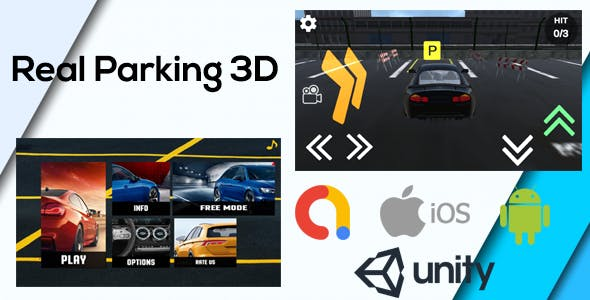 Real Car Parking 3D Game Unity ( Admob - Android - iOs - Unity 3D )