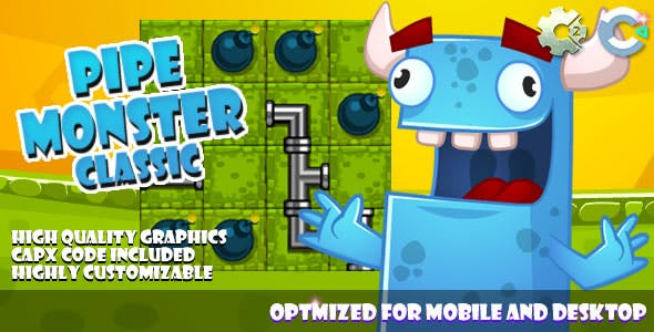 Pipe Monster Classic - (C2, C3, HTML5) Game.