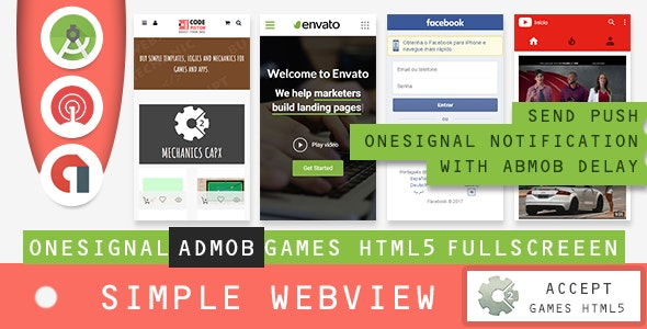 Simple Webview - Android Studio 3.2 - CodeCanyon Item for Sale