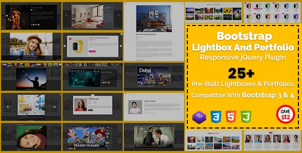 Bootstrap Lightbox And Portfolio Responsive jQuery Plugin by szthemes