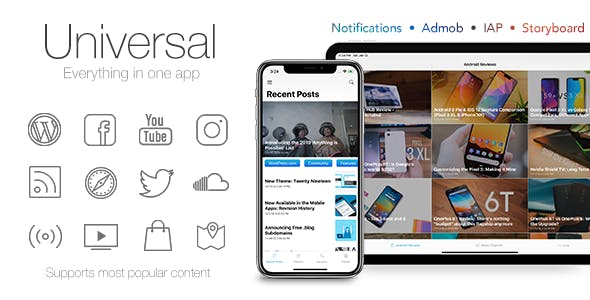 Universal for IOS - Full Multi-Purpose IOS app        Nulled