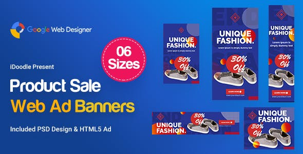 Product Sale Banners HTML5 D51 Ad