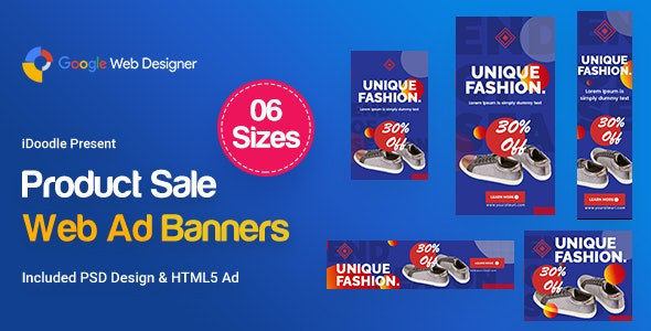 Product Sale Banners HTML5 D51 Ad - CodeCanyon Item for Sale