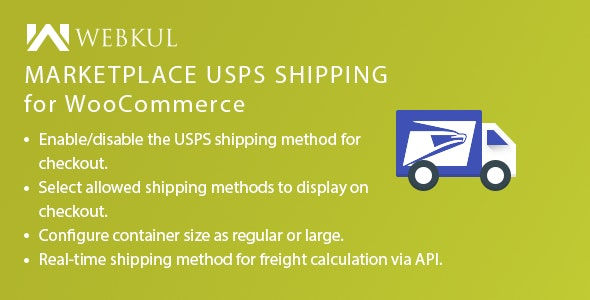 Marketplace USPS Shipping For WooCommerce - CodeCanyon Item for Sale