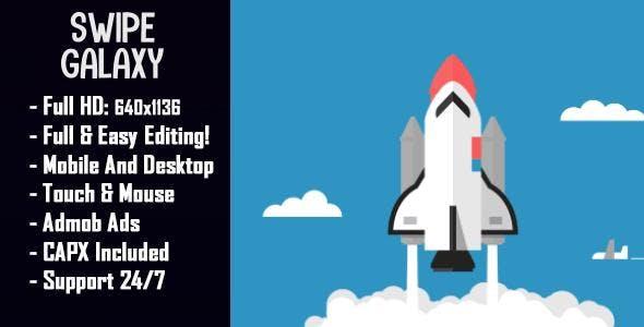 Swipe Galaxy Top Ranking HTML5 + Mobile Game