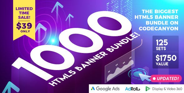 Biggest HTML5 Banner  Bundle in CodeCanyon - 1000 Banners - 2019 Update