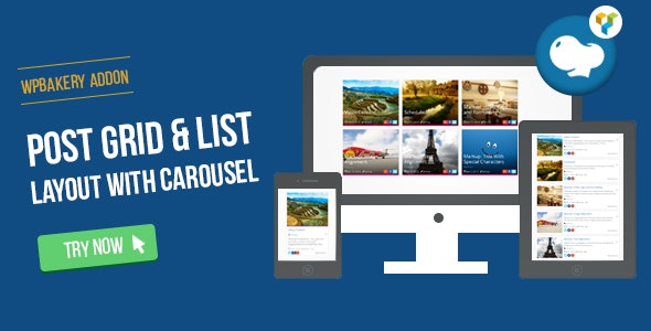 WPBakery Page Builder - Post Grid/List Layout With Carousel (formerly Visual Composer) - CodeCanyon Item for Sale