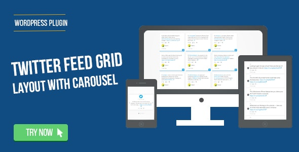 Twitter Feed Grid With Carousel for WordPress by saraagna | CodeCanyon