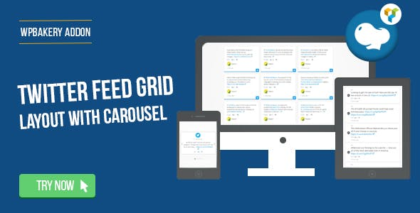 WPBakery Page Builder - Twitter Feed Grid With Carousel(formerly Visual Composer)