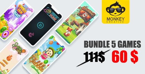 Mega Bundle 5 Games - Android studoi + admob - CodeCanyon Item for Sale