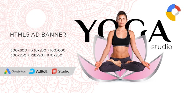 Yoga Banner Ad Templates Html5 Animated Gwd By Sintes Codecanyon